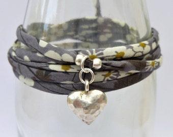 Heart wrap bracelet, heart bracelet, boho bracelet, bohemian bracelet, boho wrap bracelet, boho jewelry