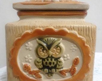 Owl Sugar and Creamer Set Vintage Made in Japan