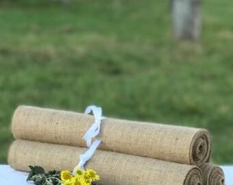 30 cm wide x 610 cm long Burlap Runner ~ Ideal for Trestle/Banquet Tables