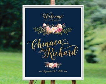 Wedding Welcome Sign, Wedding Signs, Wedding Sign Poster,  Wedding signs printable, wedding decorations - US_WS0111a