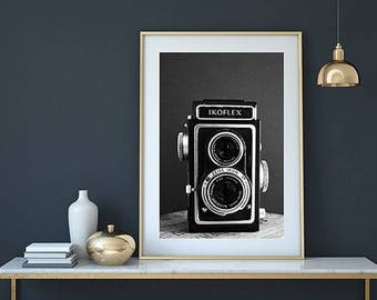 Camera print, vintage camera, camera art, camera wall art, camera poster, vintage camera print, retro camera, camera decor, camera printable