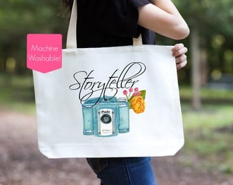 Photographer Gift, Storyteller Tote Bag, Photographer Storyteller Bag, Storytelling Photographer Tote Bag, Camera Bag, Camera Tote, Camera