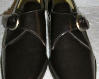 Vintage, NWOT, 90s, Nine West, brown, buckle, flats, shoes, size 6M, Made in Brazil