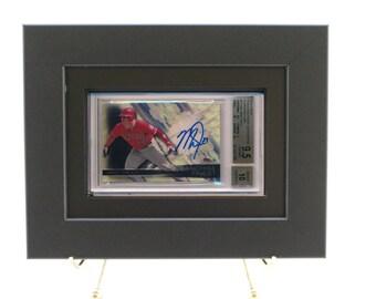Sports Card Frame for a BGS (Beckett) Graded Horizontal Card (New-All Black Design)