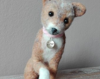 SALE 20% Olivia - little dog - OOAK, artist puppy, miniature dog, vintage dog, small dog, tiny puppy, Blythe, art dog,