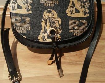 Star wars - R2-D2 metallic gold handbag - custom made