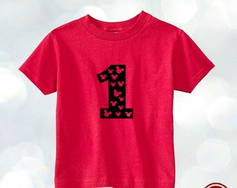 Mickey Disney T-shirt Personalized AGE Costumized Kids Toddler Birthday