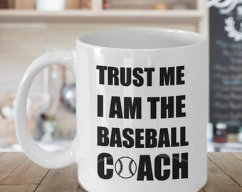 Baseball Coach Mug, Baseball Coach Gift, Personalized Coach Gift, Funny Coach Gifts, Coffee Mug for Coach, Baseball Dad Gift