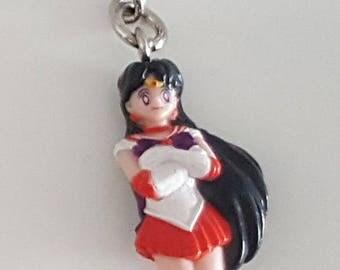 Sailor Mars Figure Keychain - Sailor Moon Manga Anime Key Chain from the 90s - from German Company Igel Rare
