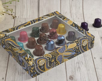 Coffee Pod Holder - Mothers Day Gift - Coffee Lovers Gift - Coffee Pod Tray - Nespresso holder - Coffee capsule store - Housewarming gift