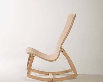 Rocker- Ergonomically perfect; support lumbar, increase blood flow  for writing, meditation, musicianship & amore' - Unfinished
