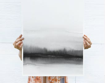 OVERSIZED Print, Large Watercolor PRINTABLE Art, Large Abstract Wall Art, 30x40 Print, 24x36 Printable Art, 24x36 Art, Black White Prints