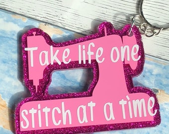 Sewing Keychain | Seamstress Gift | Sewing Gift | Sewing Machine | Sewing Humor | Funny Keychain | Seamstress Humor | Funny Gift