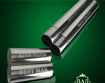 Groomsmen gift  - Engraved cigar case - Gifts for him - Personalized Cigar holder - Personalize gift - Wedding gifts - Custom made