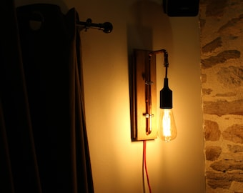 """Applique wall """"Belle Epoque"""" - industrial Style - Upcycled atmosphere"""