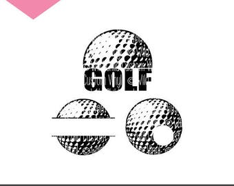 Golf SVGs, Golf Ball svg, Golf Monogram, Golf Silhouette, Golf Monogram SVG, Golf Silhouette SVG, Golf, Golf Ball, Golfball, Golf SVG