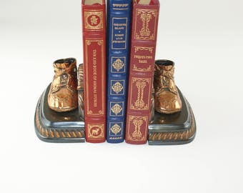 Vintage Baby Shoes Mason Masterpieces Bookends | Iron - Bronze Vintage Bookends