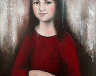 "Painting ""Little Lisa"" Mona Lisa, Mona Lisa, little girl"