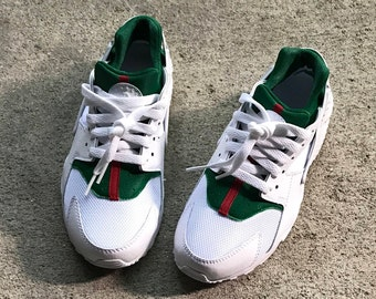 gucci nike shoes. nike huarache gucci inspired shoes