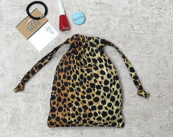 printed smallbags leopard - cotton bag thick type denim