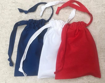 Kit 3 smallbags blue red white - 3 colors - 1 size - reusable cotton bag - zero waste