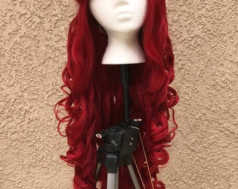 READY-TO-Ship Ariel Inspired Parks Wig