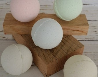 Fresh Scent Bath Bombs-Pure-Natural-Fresh-Aromatherapy - Coconut Oil - Skin Safe - skin softening-relaxing Bath Products-Spa Like