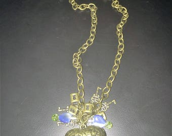 Heart Pendent with Charms