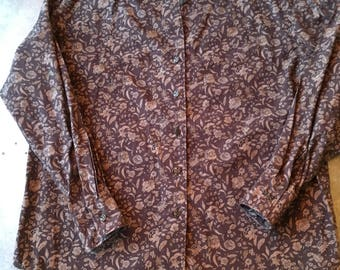Gap 80's Women's Small Floral Button Up with Detailed Buttons