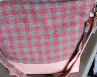 Pink & Grey Tweed
