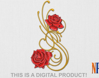 INSTANT DOWNLOAD - Roses machine embroidery design. Flowers embroidery. Plants embroidery. Embroidery file