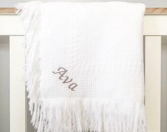 Personalised Baby Shawl Blanket / Personalised Blanket / New Born Gift / Custom Baby Blanket