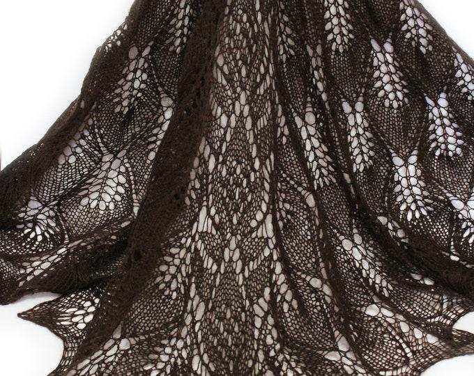 Knitted scarf shawl, knit shawl, knit scarf, brown shawl, knitted scarf, shawl of wool, knitted scarf, delicate shawl, crochet shawl