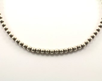 Vintage Beads Beaded Design Necklace 925 Sterling Silver NC 875