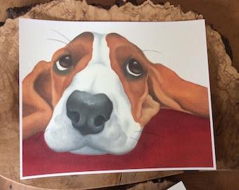 """beagle painting """"Apple"""""""
