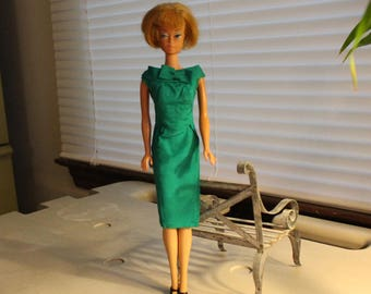 Barbie Doll Emerald Green Wiggle Dress