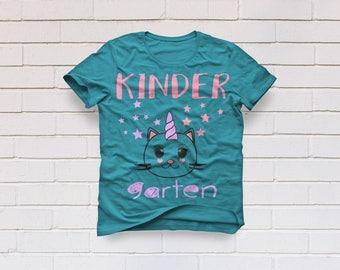 Kindergarten svg, girls Kindergarten shirt, Girls school svg, Unicorn svg, Files, Cricut, Cameo, Cut file, Clipart, Svg, DXF, Png, Pdf, Eps