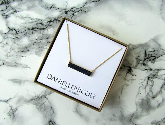 Lapis Bar Necklace, Pendant Necklace, Everyday Jewelry, Statement Jewelry, Statement Necklace, Gemstone Necklace, Boho Necklace, Boho Chic