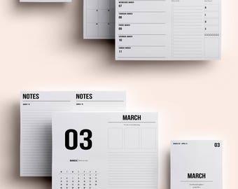Cahier TN Insert | Cahier TN Printable | Cahier TN Printable Insert | Cahier Insert - March 2018