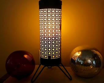 Paper lamp etsy for Paper cylinder floor lamp