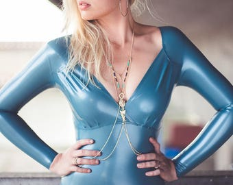 Fashion style latex bodysuit