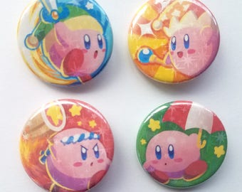 Kirby Sparkle Pinback Buttons