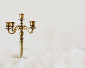 Brass Candelabra | Candelabra | Brass Decor | Candlestick Holder | Brass Candlestick Holder | Holder for Candles | Taper Holder | Vintage