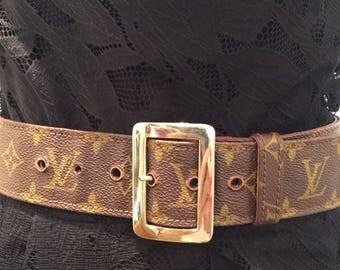 Rare Vintage LOUIS VUITTON Monogram Belt