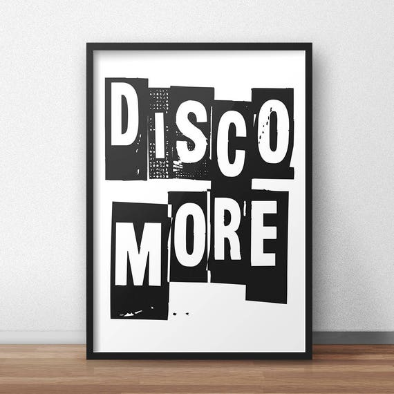 DiSCO MORE | Wall Art | Poster