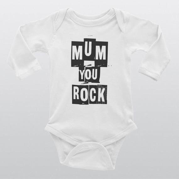 Babies Unisex 100% Cotton Bodysuit | 3 Colors | MUM YOU ROCK