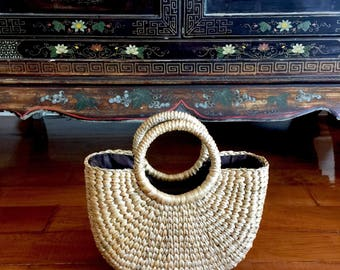 Ahava Small Handwoven Straw Bag,Straw Beach Tote,Straw Handbag,Straw Bag,Beach Basket,Basket Purse,Straw Summer Market Bag,Straw Bag Basket