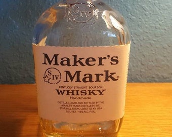 Makers Mark Liquor Bottle LED Light or Lamp  Gift Idea 21st birthday