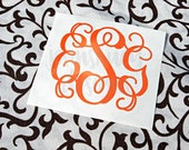 Vine Monogram Decal - Vine Decal - Monogram Decal - Vine Initials - Yeti Decal - Tumbler Decal - Wall Decal - Laptop Decal - Phone Decal