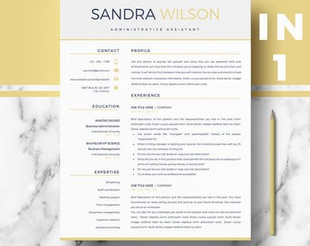 Modern Resume templates | Professional Resumes for Ms Word & Pages; one, two and three Page Resume template (3 styles) | Instant download